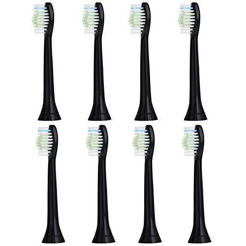SoniPro (8 Pack) Black Replacement Sonic Toothbrush Heads for Sonicare DiamondClean Hx6063/64