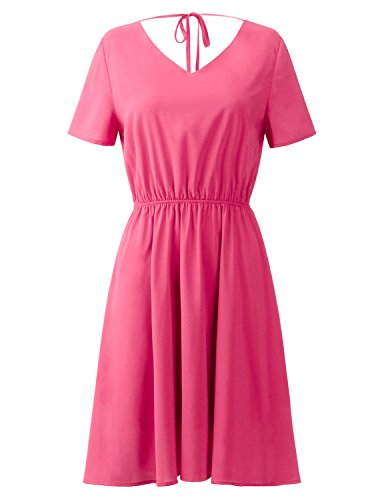 Ribbon Halter Dot Dress - 3