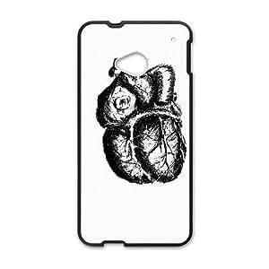 HTC One M7 Cell Phone Case Black HEART THROB U7B9ES