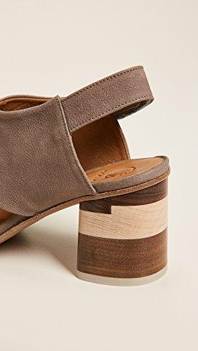 Coclico Zapatos Mujeres Big Easy Block Heel Sandals Elefante De Grano