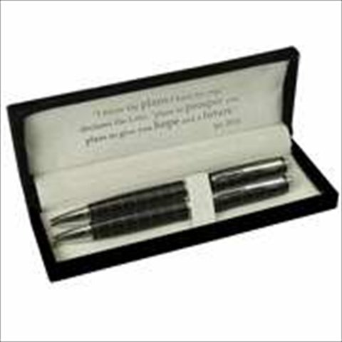 Christian Art Gifts 361746 Pen & Pencil Set Classic Black With Gift Box by Christian Art Gifts