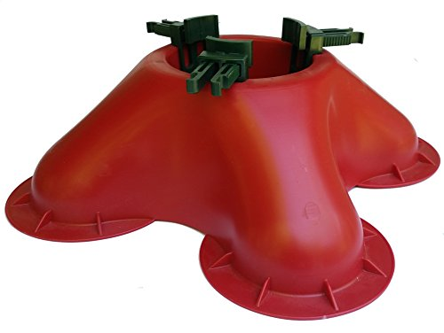 Omega OM2 Christmas Tree Stand- No Screws Unbreakable Nylon Clamps |Holds up to a 7' tree |Holds 2.1 quarts of water