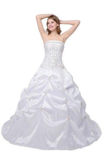 Train Taffeta Wedding Gown - 5