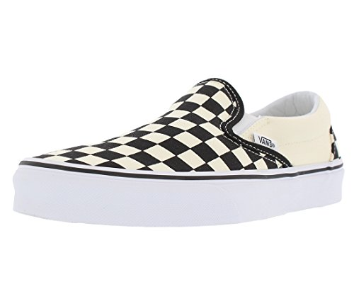 Vans Unisex Adults' Classic Slip On, Black/Off White Check, 9 UK]()