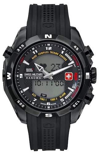 Swiss Military Hanowa - Reloj analógico y Digital de Cuarzo para Hombre con Correa de plástico, Color Negro: Amazon.es: Relojes