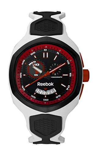 Reebok Hexablade Chrono Men's Date Watch White Black and Orange RF-SHB-U6-PWIW-BR