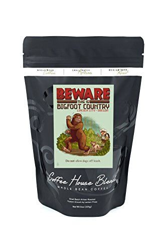 Lincoln City, Oregon - Bigfoot Country - Do Not Allow Dogs Off Leash (8oz Whole Bean Small Batch Artisan Coffee - Bold & Strong Medium Dark Roast w/ - Lincoln City Images Of