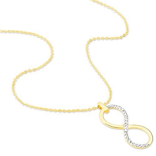 HISTOIRE D'OR - Collier Or Jaune Infini et Diamants 43cm - Femme - Or jaune 375/1000