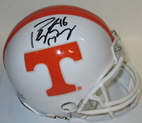 Volunteers Peyton Manning Autographed Mini Helmet Signed - Hof - Mvp - Broncos Colts - Certified - Colts Authentic Helmet Autographed