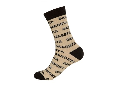 [Gangsta Crew Socks Metallic Gold and Black] (Gangster Shoes)