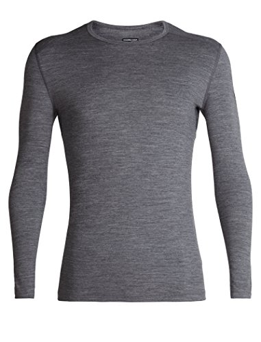 - Icebreaker Merino Men's 200 Oasis Long Sleeve Crew Neck Shirt, Gritstone Heather, Large
