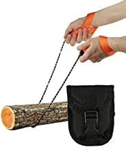 Pocket Chainsaw - Razor Sharp Self Cleaning 25.5 In Portable Hand Saw Survival Gear with Holster for Camping,