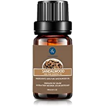 Lagunamoon Sandalwood Essential Oil,Aromatherapy Therapeutic Oil,10ml