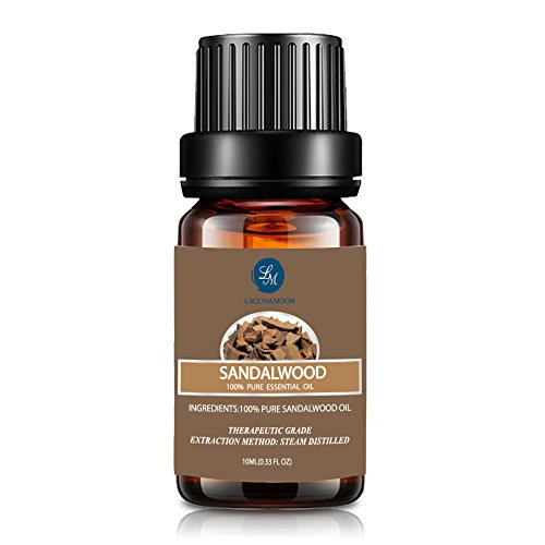 Sandalwood Essential Oil, Aromatherapy Therapeutic Oil,10ml