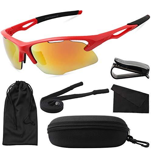 MAXJULI Sports Sunglasses for men women for Cycing Running Baseball ()