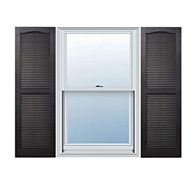 Alpha VNB1555BLOL 14-Inch by 55-Inch Open Louver, Black, 2-Pack