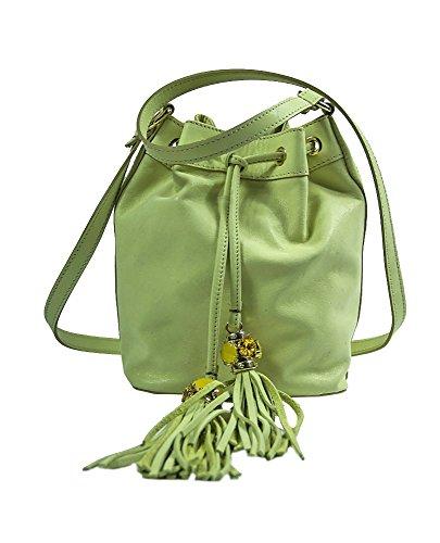 Borse donna Collezione Argento Antico by Laino Industry - Borsa a sacchetto con accessorio gioiello