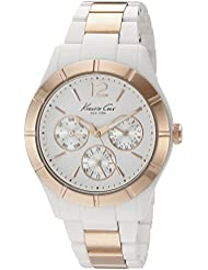Kenneth Cole New York Womens KC0001 Classic White Dial Steel & Plastic Bracelet Watch