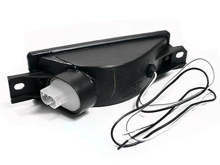 TopPick 63131380965-63131380966-S Bumper Reflector Lights FOR BMW E30 3-Series 1984-1991 Smoke//Black