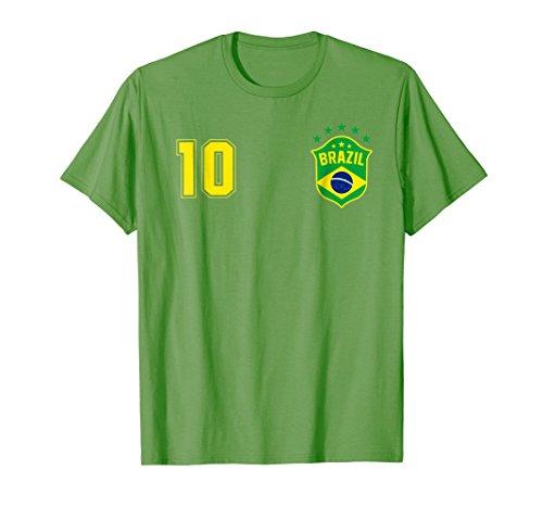 Brasil Soccer Brazil World No.10 Jersey Cup Vintage T Shirt