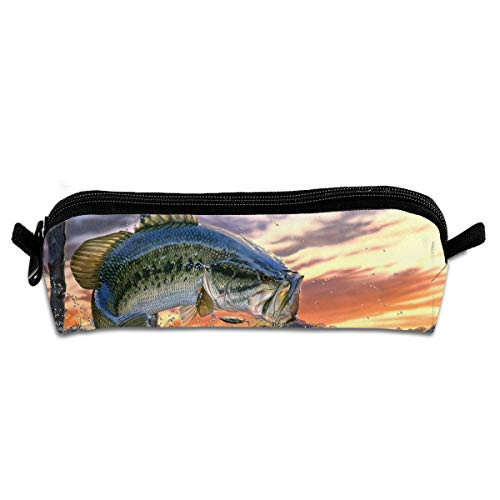 (Fishing Bass Travel Toiletry Bag Makeup Bag Protabel For Women Girl)