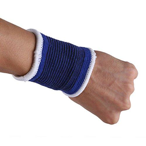 COKPA 1Pair Elasticated Knee Blue Knee Pads Knee Support Brace Leg Arthritis Injury Gym Sleeve Elasticated Bandage Ankle Brace Support Wrist Sweat Bands -