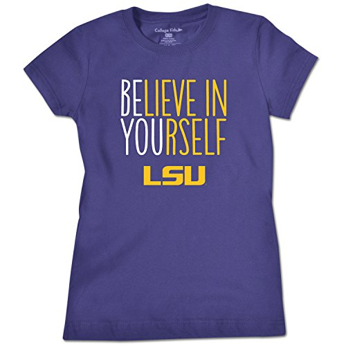- NCAA LSU Tigers Girls Short Sleeve Tee, Size 10-12/Medium, Purple