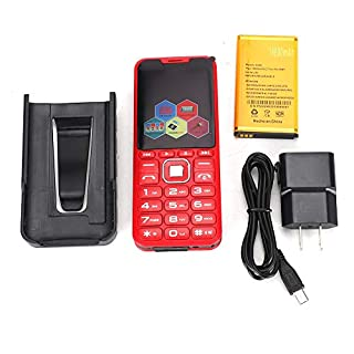 Oumij Camera Phone,3.0in Four Card Four Standby Straight Big Speaker Large Button with Camera 4-Band 2G Mobile Phone (100-240V) (red)