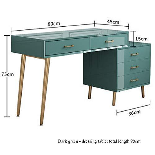 YUNXIAOHONG Dressing Table - Dressing Table Set Cosmetic Storage Box Green B 80324575
