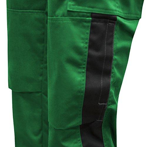 Made Lavoro Pro Kermen Nero Lampo Tasca Cerniera In 25 Per Ginocchiere Nero Ykk Berlin Da Verde Pantaloni Bottone Eu verde FSqP5