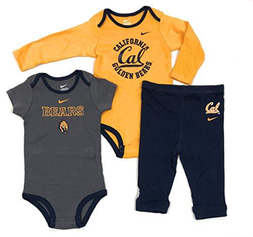 Nike NCAA Boy's California Golden Bears Cal 3 Piece Creeper Pants Set (18 Months, Cal) ()