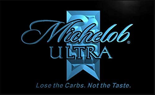 Amazon.com: Michelob Ultra cerveza LED señal de neón azul ...