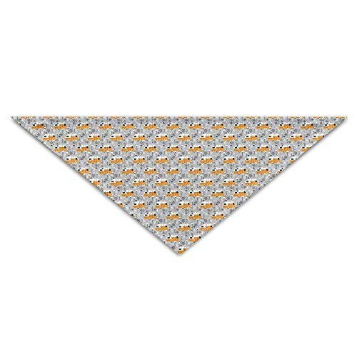 DKFDS Halloween Trailers and Flamingos Baby Pet Dog Scarves Puppy Triangle Bandana Bibs Triangle Head Scarfs Accessories -