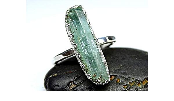 999 Pure Fine Silver Raw Aquamarine Ring Aquamarine Ring Aquamarine Band Ring Aquamarine Wedding Band Aquamarine Ring