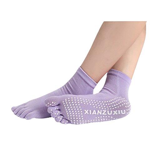 YideaHomeヨガ ソックス 靴下 5本指 ピラティスソックス 抗菌消臭靴下 滑り止め付き ヨガウェア ヨガ用品