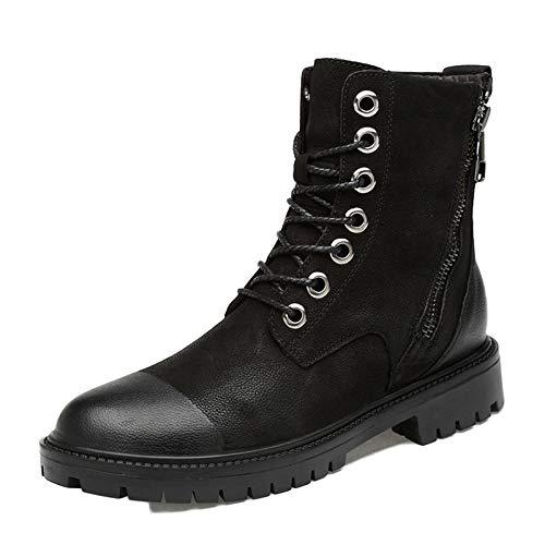 da Blackplusvelvet Stivali Scarpe Invernali Stivali Stivali da Impermeabile Scarpe Pelle Lavoro Media di Uomo Ginnastica Leggero E Autunno d48qwzTx4