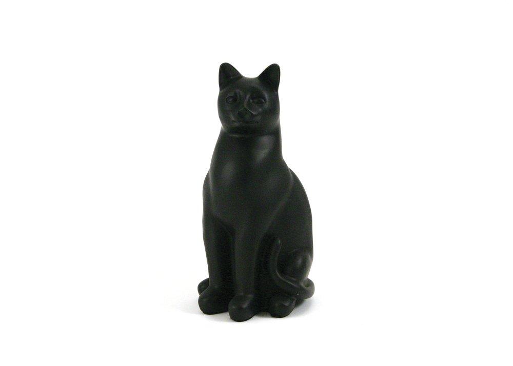 Near & Dear Pet Memorials Elite Cat Resin Cremation Urn 25 Cubic Inch Black