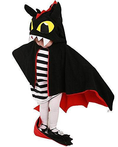 Coskidz Kids Red and Black Dragon Little Devil Halloween Cosplay Cloak (One Size)]()