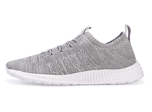 Eine andere Sommer-Männer Casual Style Breathable Knit Laufschuhe Grau