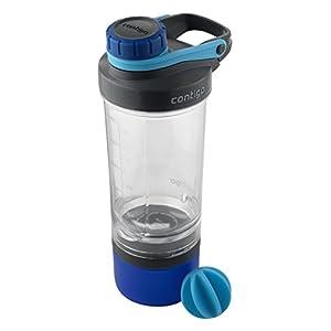 Contigo Shake & Go Fit Mixer Bottle with Storage Container, 22 oz., Carolina Blue