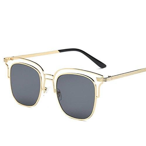 mâle et marée de soleil de soleil lunettes lunettes Europe Vedettes Aoligei du fashion B avec Amérique creux de SaRxq
