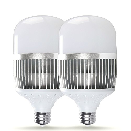 SUNTHIN 2 Pack E39 Mogul Base LED Bulb, Super Bright 500W Equivalent Metal Halide Replacement for Outdoor Light HID Hps,2700K Warm White 60 Watt Yard Light, Large Screw Commercial Retrofit Light Bulb