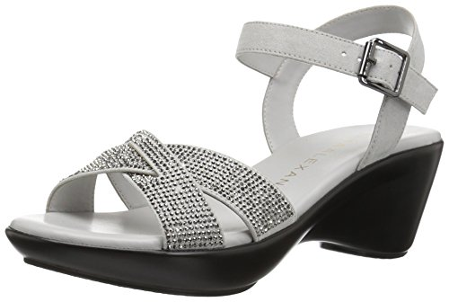 Athena Alexander Women's Florence Wedge Sandal, Grey, 8 M US