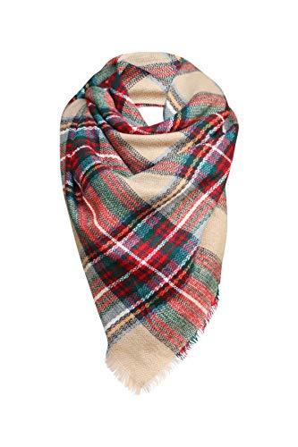 Red, Green, Beige Women's Fashion Warm Winter Blanket Scarf Funky Monkey Scarves (Striped Red Monkey)