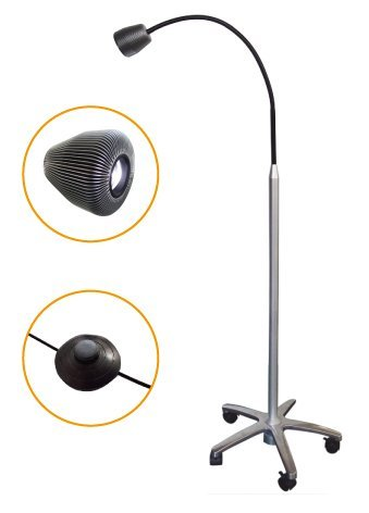 Mobile Surgical Medical Floor Stand Inspection Lamp 7W LED Light for Lab Equipment
