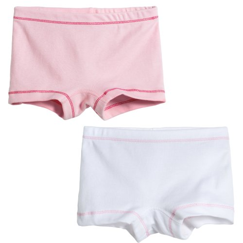 (City Threads Girls' 2-Pack BoyShorts Perfect for Sensitive Skin SPD Sensory Friendly Clothing For School Play and Under Dresses Bike and Dance, Simple, 3T)