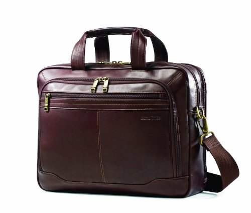 (Samsonite Colombian Leather Toploader, Brown)