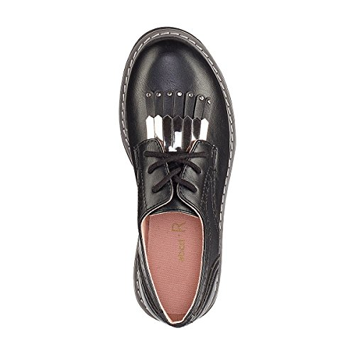 La Redoute Collections Big Girls Brogues With Fan Detail, 30-39 Black