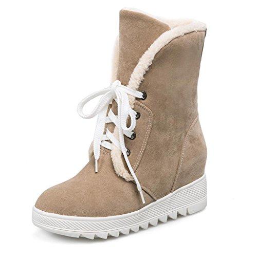 de neige PP cachemire coton Plus Bottes le Hiver Automne de Dans de pour Femme cadre au chaud Chaussures neige Bottes en Dentelle Bottes Garder de d'hiver l'augmentation bottes Yellow taille grande et filles rrnET6qU