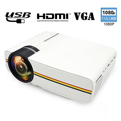 Mini Projector WEILIANTE HD Video Projector 1080P 1200 Lu...